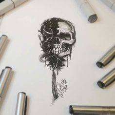 Тату эскиз - спичка и череп. Эскиз нарисован маркерами Copic и лайнерами Superior. Тату мастер Вадим. Студия художественной татуировки и пирсинга Evolution. www.evotattoo.ru. Тел./WhatsApp: 8(925)5143553. #tattoo #art #dotwork #skull #design #illustration #smoke #drawing #draw #paint #sketch #тату #тату_эскизы #татуировки #татуировка #дотворк #череп #дизайн #рисунок #эскизы #скетчи #тату_дотворк #череп_и_спичка #эскиз_спичка #тату_мастер_Вадим #тату_студия_evolution