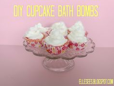 DIY Cupcake Bath Bombs