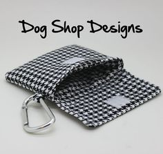waterproof lining Cute gift for dog lover threat bag with clipper cute  dog accessories leash pouch 100 FABRIC CHOICES Dog treat bag
