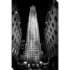 Michael Joseph 'Rockefeller Center' Oversized Canvas Art 26x40  $125.00