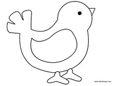 Risultati immagini per sagome uccelli da colorare