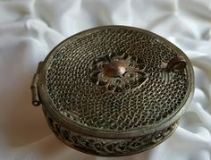 Antique French Pill Box 1910s / Victorian / Modernista / Art Nouveau by PinyolBoiVintage on Etsy