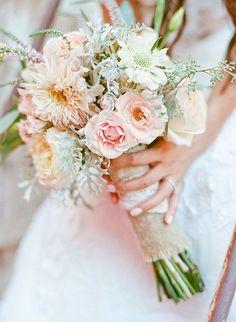 Coral flower bouquet