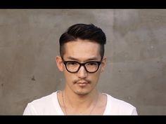 Korean beauty : 남자 포마드 리젠트컷 - Men's hair , Classic style, style a pompadour - YouTube