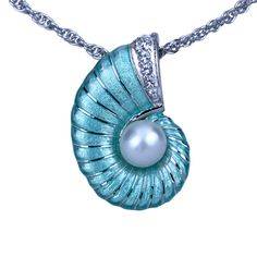 dd0d2a88bde Check out the deal on Guy Harvey Nautilus Necklace with Pearl - Enamel  Sterling Silver at