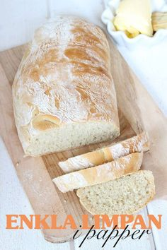Dagens-recept Bread Bun, Bread Rolls, Daily Bread, Bread Baking, Vegan Recipes, Goodies, Food And Drink, Treats, Snacks