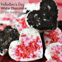 White Chocolate Oreo Bark for Valentines Day