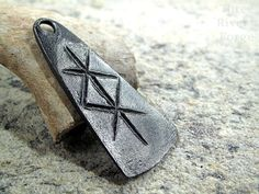 A combination of Futhark runes Im told will bring about a lasting partnership. Like my other rune pieces, this medallion is forged from best