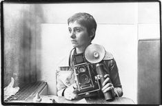 """Diane Arbus self portrait.   Diane once said """"it's what I've never seen before that I recognise""""  apply this to your marketing + PR and you are on the right track"""