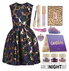 GNO by bysc on Polyvore featuring polyvore, beauty, tarte, Yves Saint Laurent, Elizabeth Arden, Vera Wang, Smith & Cult and MSGM