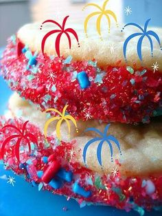 """POP ROCKS """"FIREWORKS"""" COOKIES FOR 4TH OF JULY"""