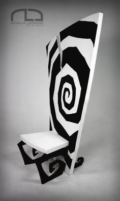 """My finished Tim Burton inspired Conceptual Chair Design. 50""""x32""""x20"""""""