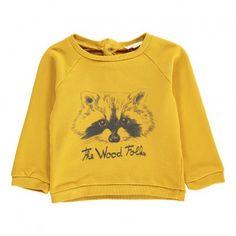 The Wood Folks Baby Sweatshirt Caramel  Hundred Pieces
