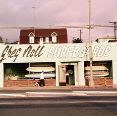 LeRoy Grannis  Greg Noll Surf Shop, Hermosa Beach, 1963  Chromogenic Print  Signed, Dated, and Numbered on Verso	  36 x 36""