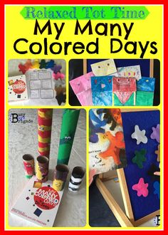 My Many Colored Days-Relaxed {Homeschool} Tot Time - teach toddlers & preschoolers about colors, feelings with songs, crafts, and activities