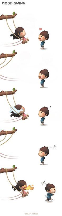 Mood swings. :P