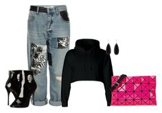 """Poppy Pink"" by sweetnuff on Polyvore featuring McQ by Alexander McQueen, Philipp Plein and Bao Bao by Issey Miyake"