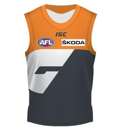 2012 GWS GIANTS Home Guernsey Mens $110 Guernsey, Football, Club, Sports, Men, Tops, Products, Style, Fashion