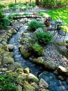 Backyard Landscaping Ideas, Gardening - its-a-green-life. Good idea for drainage area