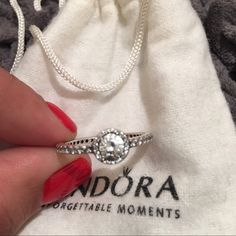 Authentic Pandora Classic Elegance Ring Worn once. Like brand new, no signs of wear. Stamped. Pandora Jewelry Rings