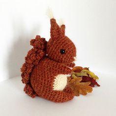 Coco The Squirrel amigurumi crochet pattern by Irene Strange