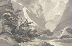 Cascade de Buffalora de John Warwick Smith (1749-1831, United Kingdom)