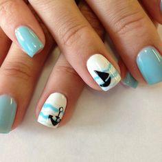 anker boot motive sommer nageldesign