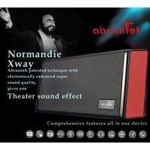 Abramtek Normandie Xway Bluetooth MP3 Player Speaker with Surround Sound and Subwoofer Effect, FM, NFC sensor - works as external stereo speaker for smart phones, iPads, notebooks, PCs - With Remote Control - $79.50