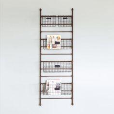 climbing the ladder shelf