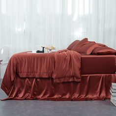 19 Momme Seamless Silk Sheets Set Silk Sheets, Flat Sheets, Silk Bedding, Luxury Bedding Sets, Duvet Cover Sets, Sheet Sets, Pillow Cases, Furniture, Home Decor