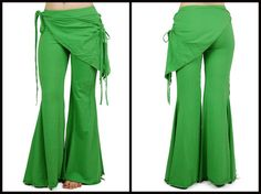 Pantalon de fée vert bas des jambes évasée avec par BaliWoodShop