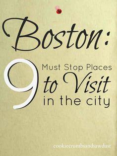 Cookie Crumbs & Sawdust: visit boston