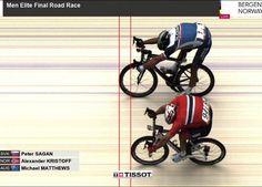 Peter Sagan wins third consecutive world road race title
