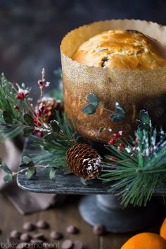 choc oj Panettone is such a classic for the holidays, but this version is totally next-level! The candied orange peel and bittersweet chocolate are studded all throughout this moist, sweet loaf, and the flavors are so spot on for Christmas! Christmas Goodies, Christmas Desserts, Christmas Baking, Christmas Drinks, Christmas Christmas, Xmas, Cupcakes, Cupcake Cakes, Dessert Bread