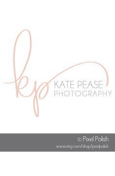 Handwritten initials logo designed for Kate Pease Photography. https://www.etsy.com/shop/PixelPolish
