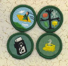 1960s Girl Scout badges!!  I still have my sash and handbooks!!