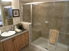 Two separate sink areas. This home doesn't just offer dual sinks. It has dual sink and preparation areas that are SEPARATE! Two people. Two areas. Palm Harbor Homes, Display Homes, Mobile Homes, Modular Homes, Sinks, Double Vanity, Separate, Decorations, Mirror