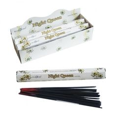 Night Queen Stamford Hex Incense Sticks, 6 packs of 20 sticks each.  Incense is an inexpensive way of adding fragrance to your home, and we have a huge collection to choose from.  Each stick burns for approx 30 minutes, with each individual pack containing about 20 sticks. Stamford is the top selling brand in the world, and each hand rolled stick is made from the finest raw perfumery materials.  Dimensions: Pack Length 24cm