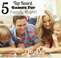 5 Top Board Games For Family Night! See our top 5 picks!