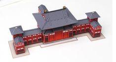 Byodoin Phoenix Hall Miniature Paper Model - by Hanae Nozaka