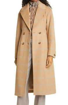 Baum und Pferdgarten Destiny Check Wool Blend Trench Coat | Nordstrom