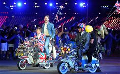 OLYMPIC'S 2012 Mods: The Kaiser Chiefs perform The Who's Pinball Wizardon scooters during the Olympic Games Closing Ceremony Ricky Wilson, Kaiser Chiefs, Eric Idle, London Olympic Games, 2012 Summer Olympics, Mod Scooter, Go Game, London Summer, Northern Soul