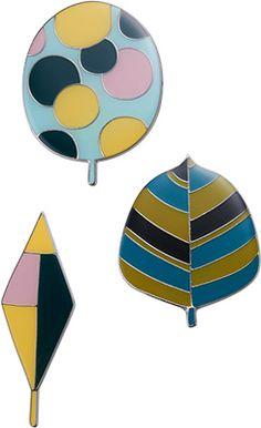Brooch (left) - 2013–2014 Autumn & Winter Collection - Pick Up  Sally Scott