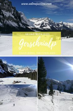 The Gerschnialp ski area at the foot of Titlis offers almost perfect skiing conditions for both beginners and families with children. Snowboarding, Skiing, Family Ski, Engelberg, Ski Resorts, Travel With Kids, Switzerland, Destinations, Seasons