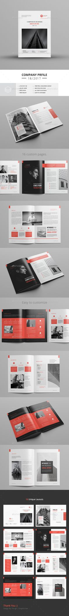 Company Profile — InDesign INDD #us letter #unique • Available here → https://graphicriver.net/item/company-profile/19561078?ref=pxcr