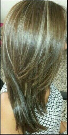 Medium ash brown with highlights