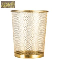 Hobby Lobby | (office) Gold Metal Trash Can