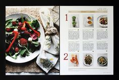 Whole Living Magazine by Carley Metzger, via Behance