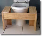 Turn a Western toilet into a squat toilet!