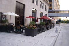 sidewalk cafe fences - Google Search